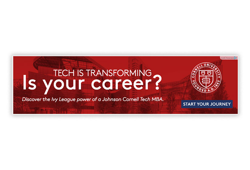 CORNELL SC JOHNSON COLLEGE OF BUSINESS ADS/EBLASTS