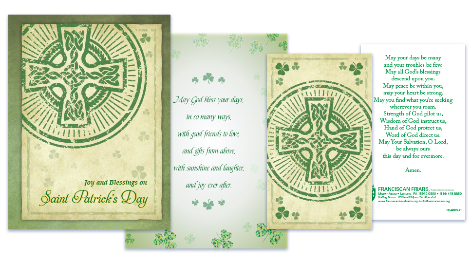 Franciscan Friars of Loretto St. Patrick's Day Greeting Card Mailing