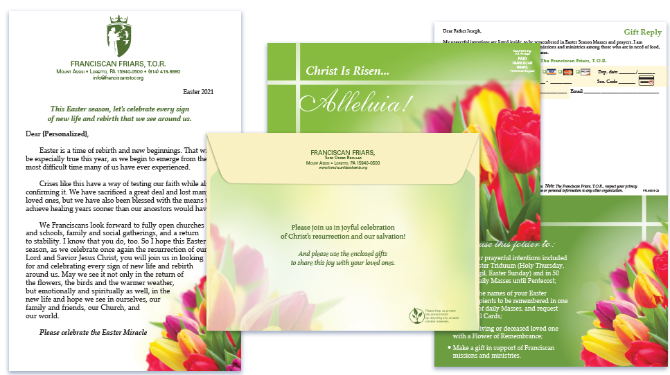 Franciscan Friars of Loretto Easter Greeting Card Mailing