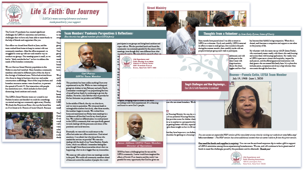 Life Experience and Faith Sharing Associates Year-End Newsletter