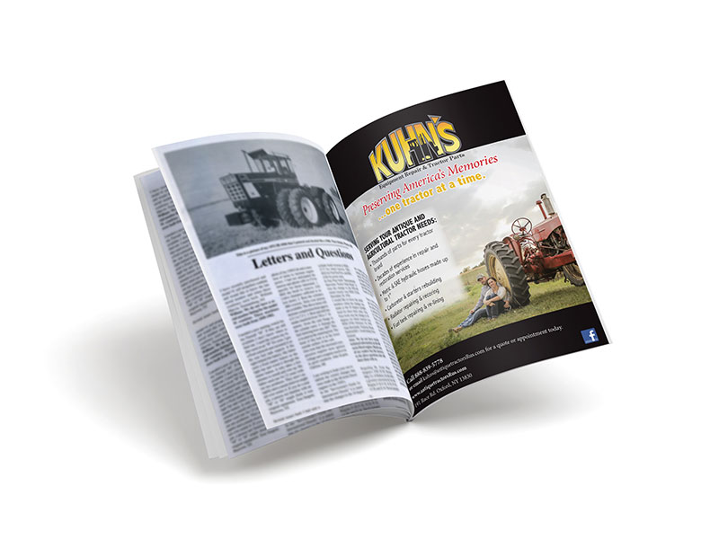 Kuhn's Equipment Repair & Tractor Parts Trade Magazine Ads